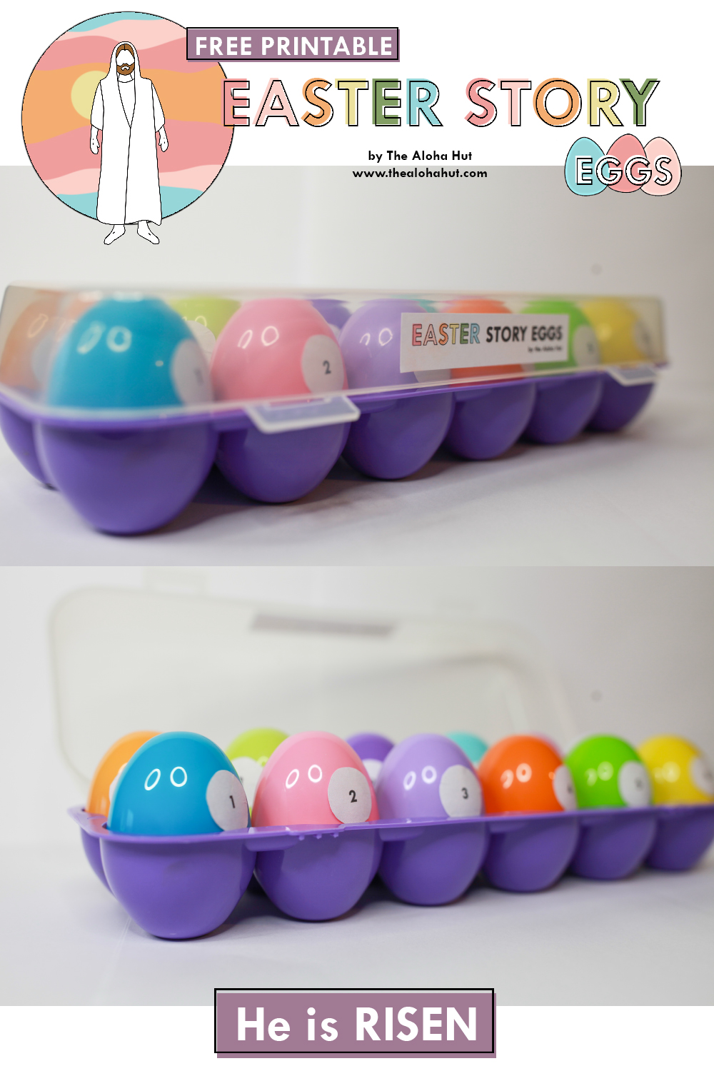 Easter Story Eggs 3 free printable by the Aloha Hut