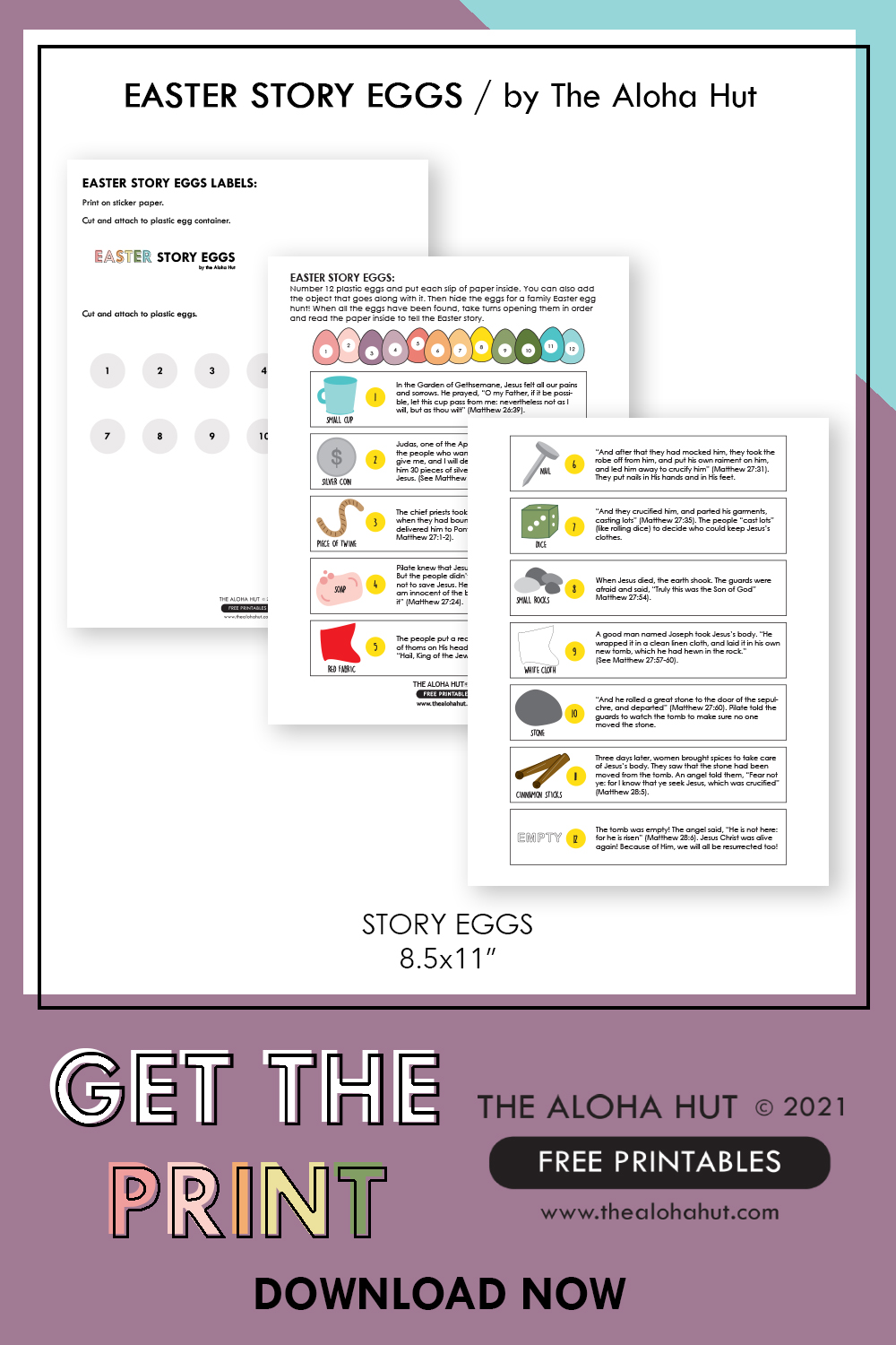 Free Printable Easter Story Eggs by the Aloha Hut