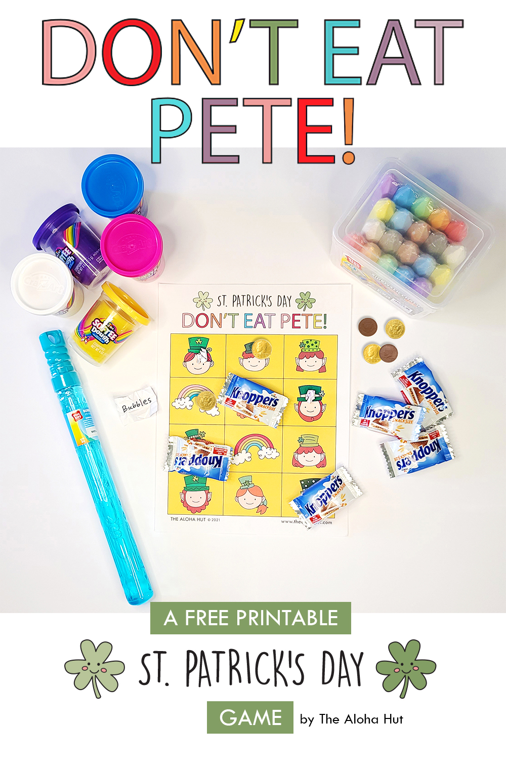 Free Printable St Patrick's Day Game Don't Eat Pete 2 by the Aloha Hut