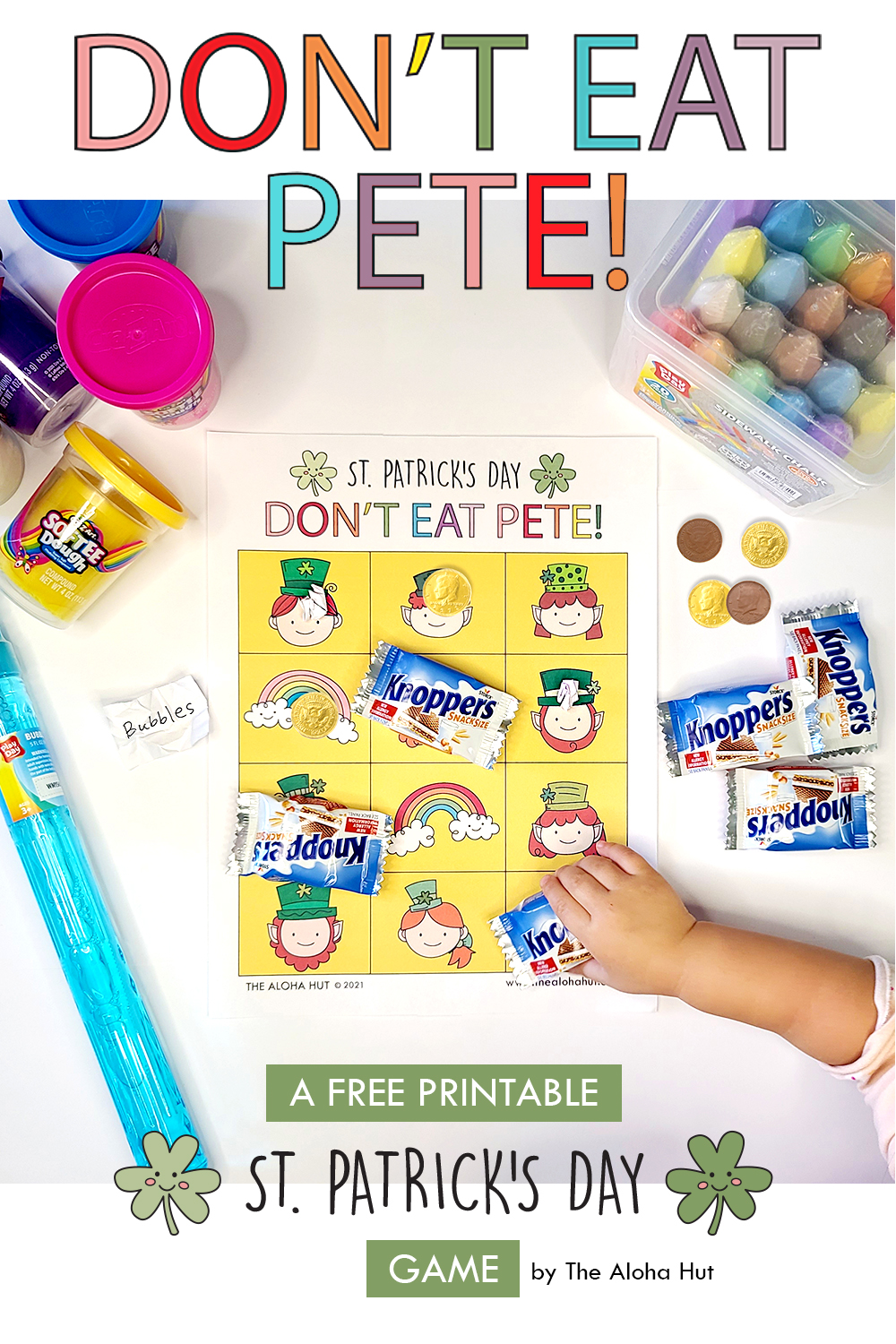 Free Printable St Patrick's Day Game Don't Eat Pete by the Aloha Hut