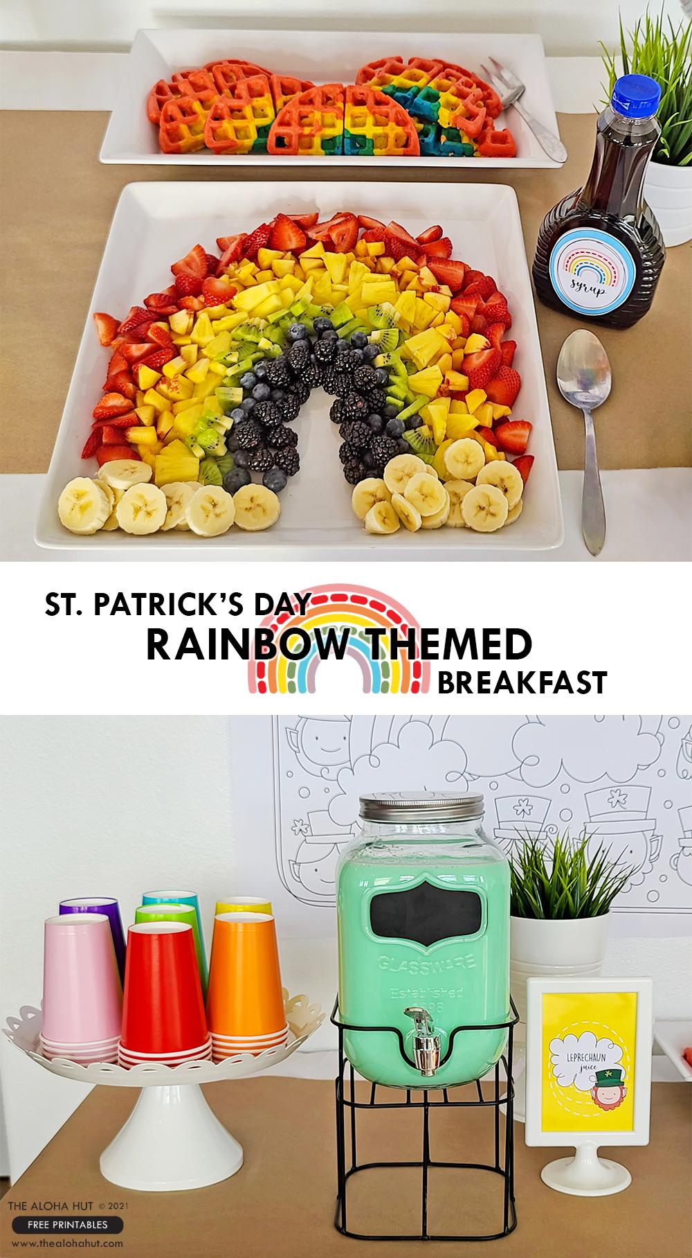 St Patrick's Day Rainbow Themed Breakfast by the Aloha Hut
