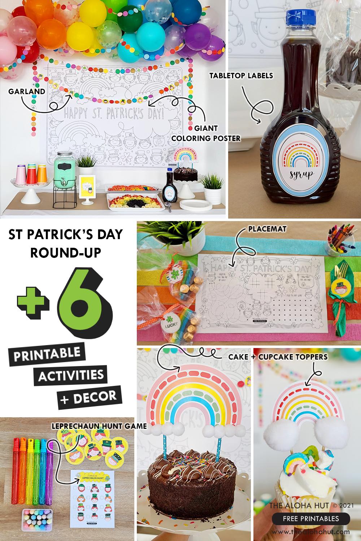 St Patricks Day Round Up +6 Printable Activites + Decor by the Aloha Hut