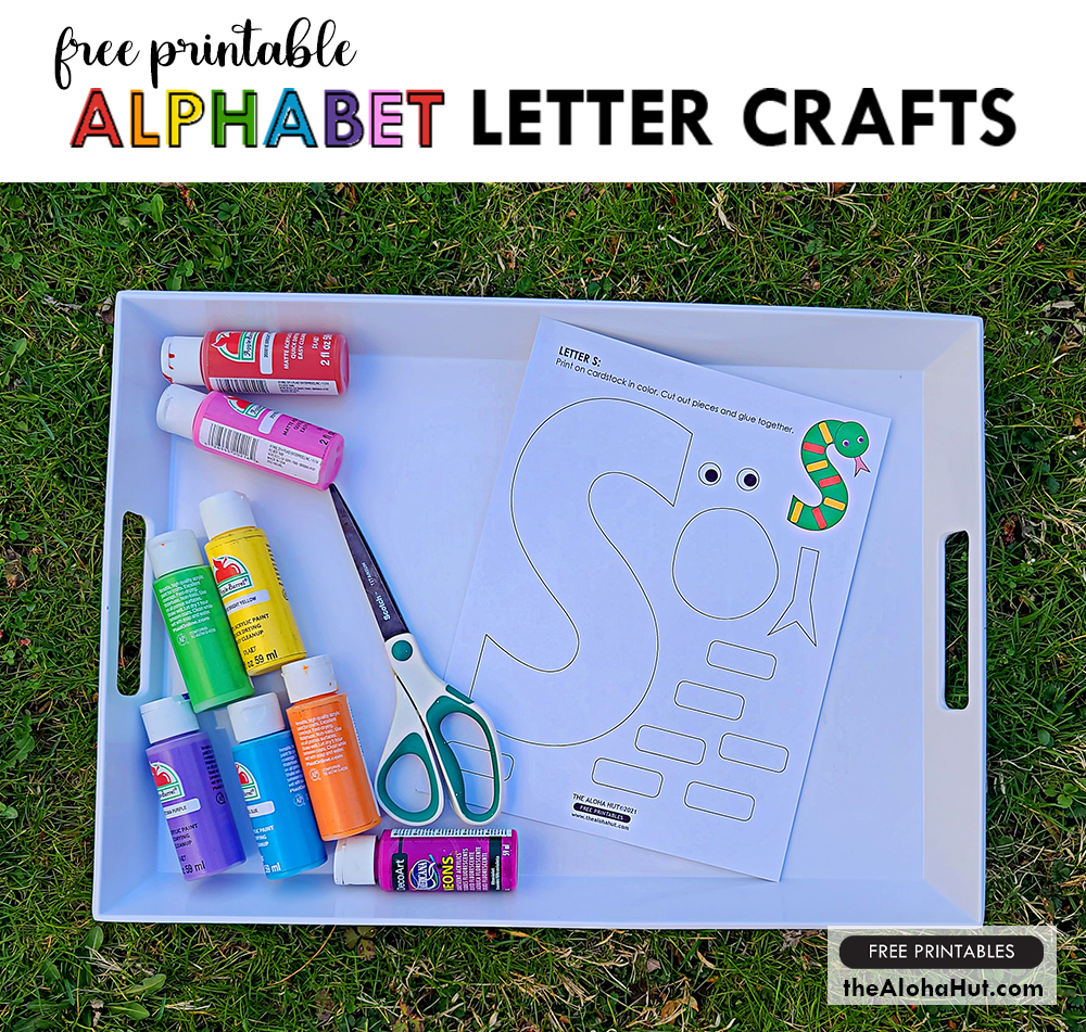 Alphabet Letter Crafts - Letter S - free printables by the Aloha Hut