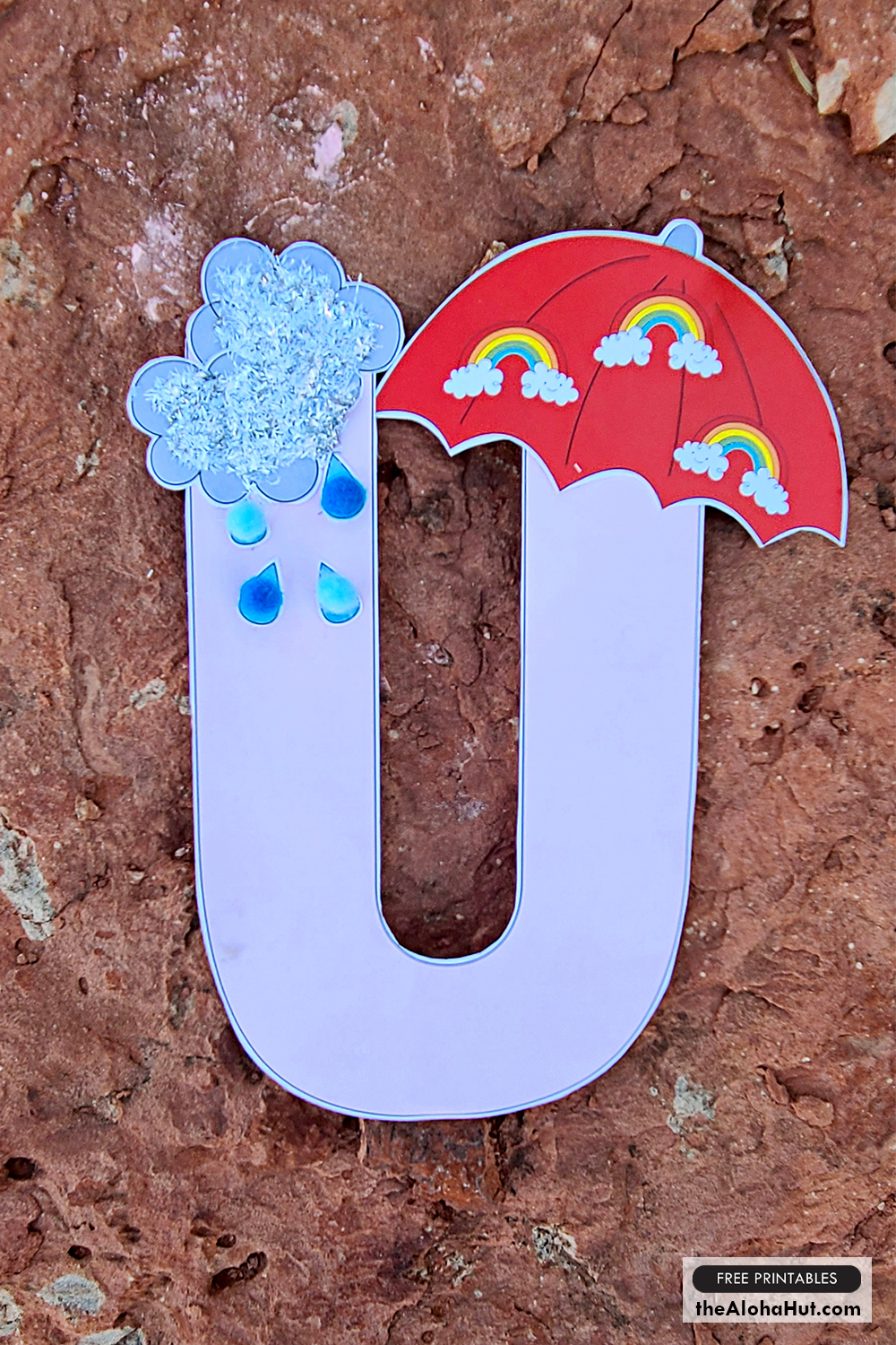 Alphabet Letter Crafts - Letter U - free printables 2 by the Aloha Hut