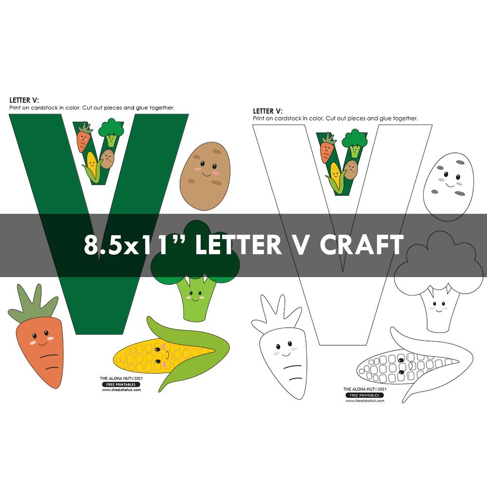 Alphabet Letter Crafts - Letter V - free printables 3 by the Aloha Hut