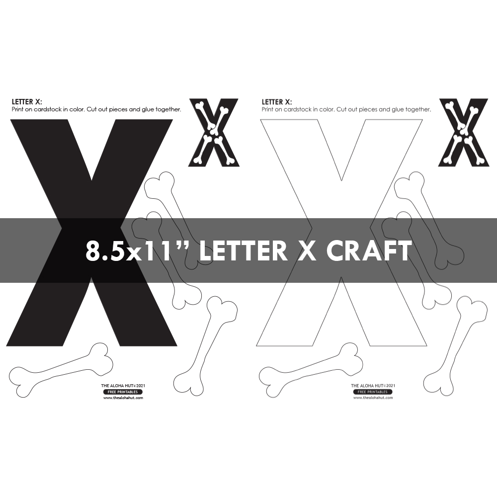 Free Printable Alphabet Letter Crafts 12 by the Aloha Hut
