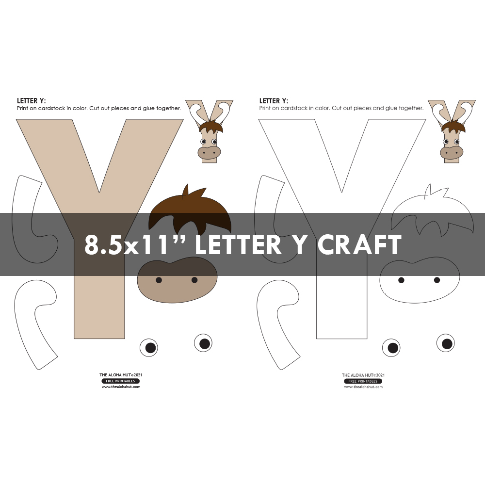 Free Printable Alphabet Letter Crafts 13 by the Aloha Hut
