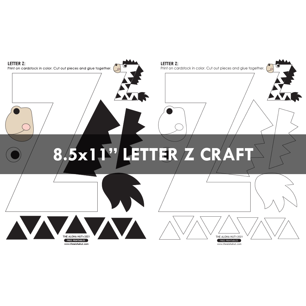 Free Printable Alphabet Letter Crafts 14 by the Aloha Hut