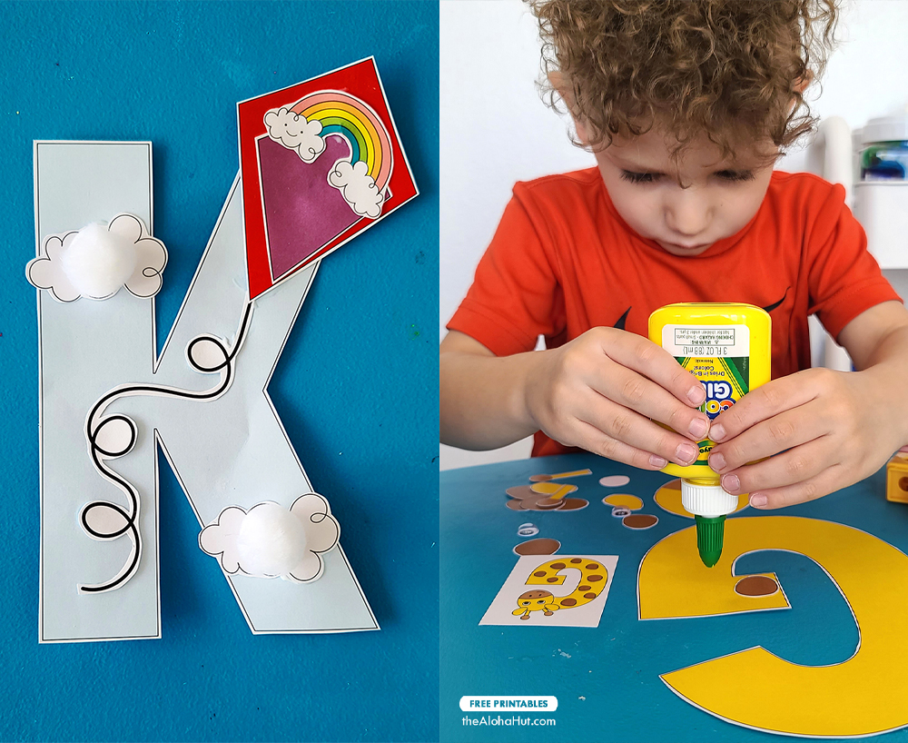 Free Printable Alphabet Letter Crafts 8 by the Aloha Hut
