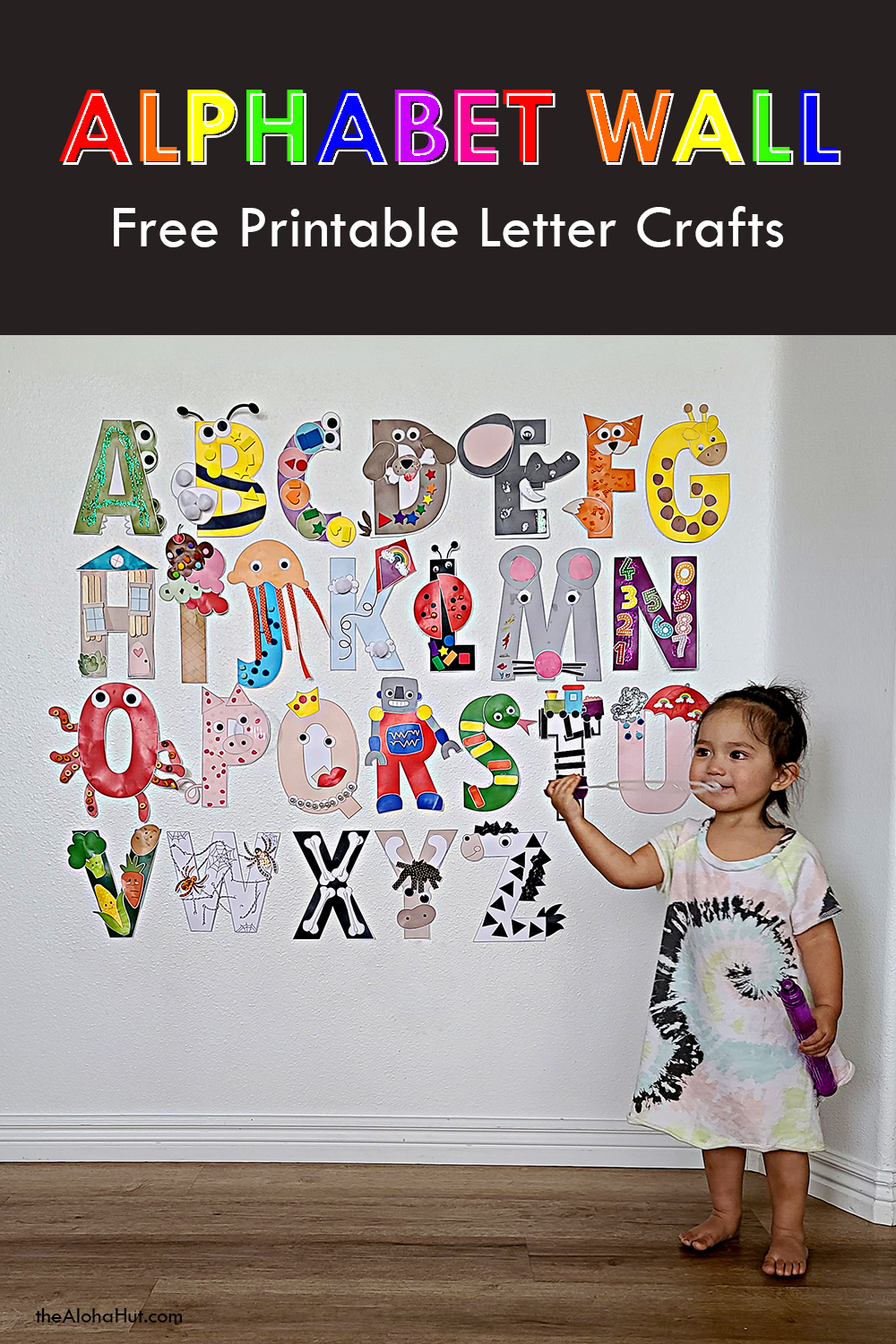 Free Printable Alphabet Letter Crafts 9 by the Aloha Hut