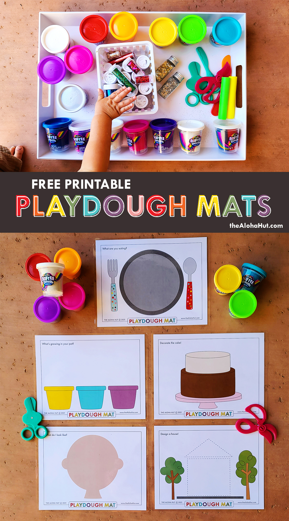 Free Printable PLAYDOUGH MATS 2 by the Aloha Hut