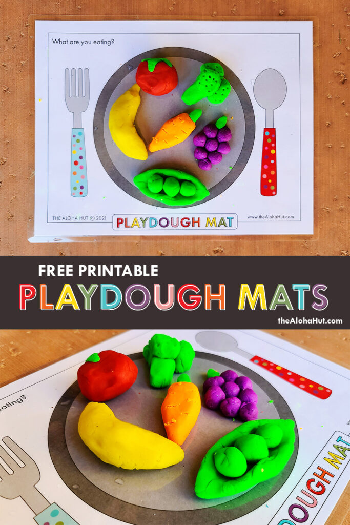Free Printable PLAYDOUGH MATS 3 by the Aloha Hut