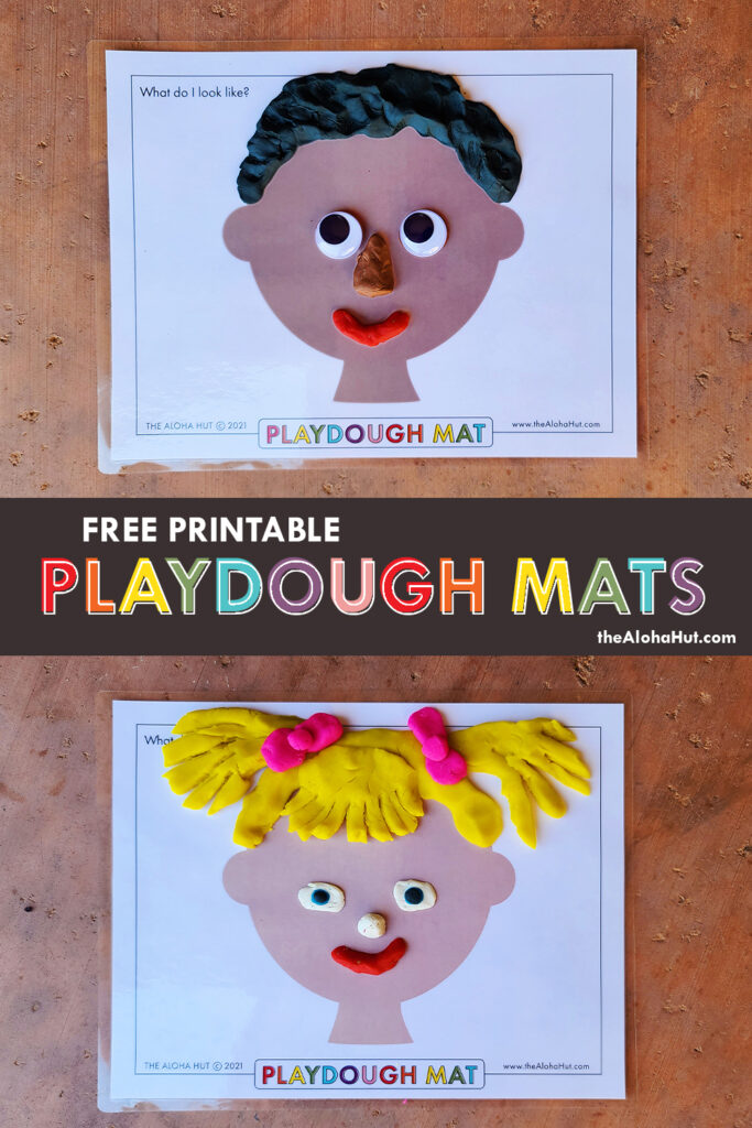 Free Printable PLAYDOUGH MATS 4 by the Aloha Hut