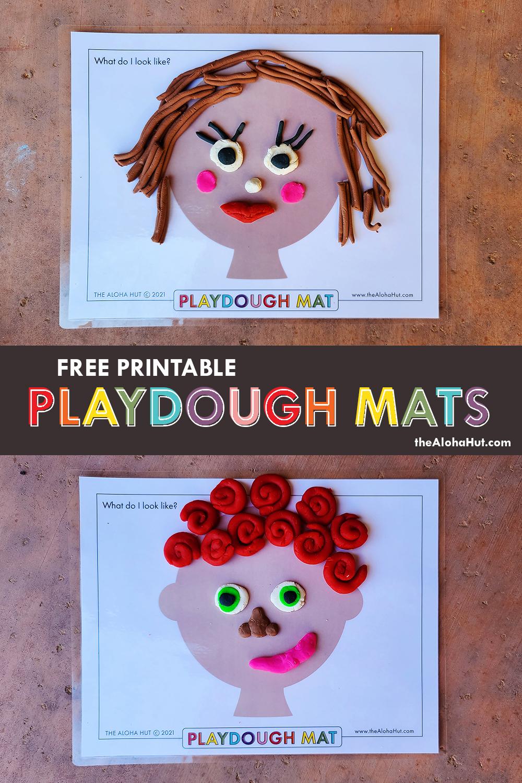 Free Printable PLAYDOUGH MATS 5 by the Aloha Hut