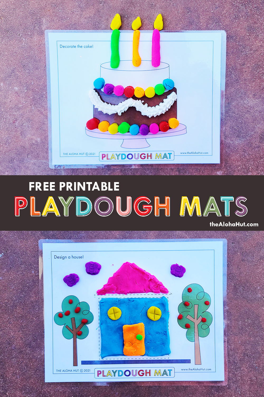 Free Printable PLAYDOUGH MATS 6 by the Aloha Hut