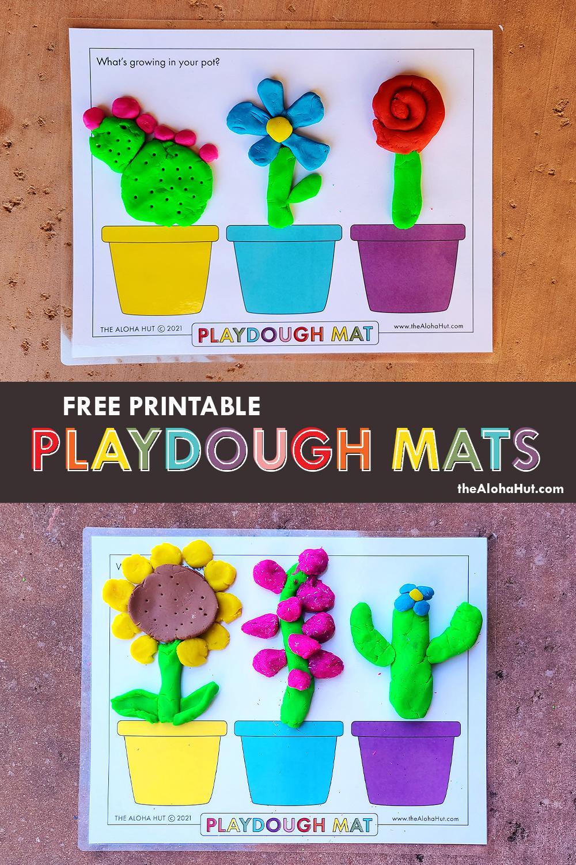 Free Printable PLAYDOUGH MATS 7 by the Aloha Hut