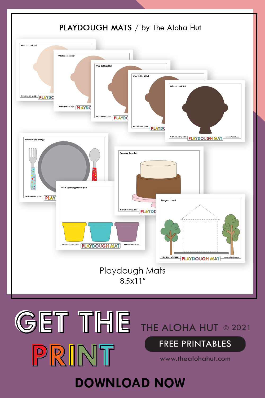 Free Printable PLAYDOUGH MATS 9 by the Aloha Hut