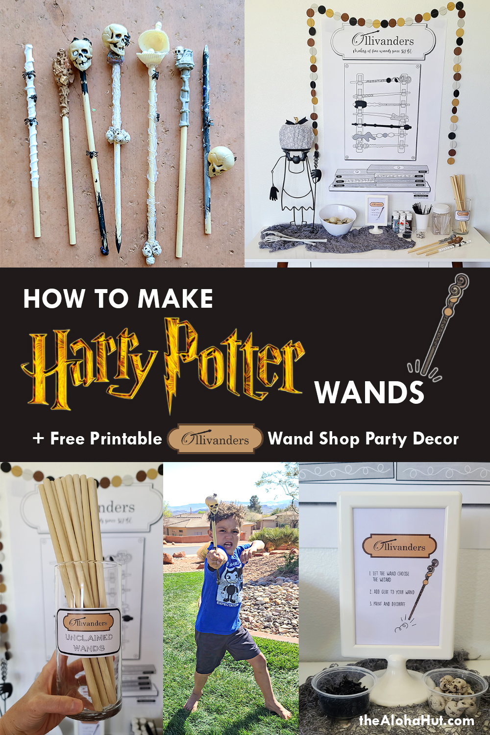 Harry Potter Party Ollivanders Wands by the Aloha Hut