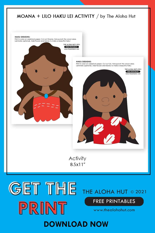 Moana + Lilo Haku Lei Activity free printable 10 by the Aloha Hut