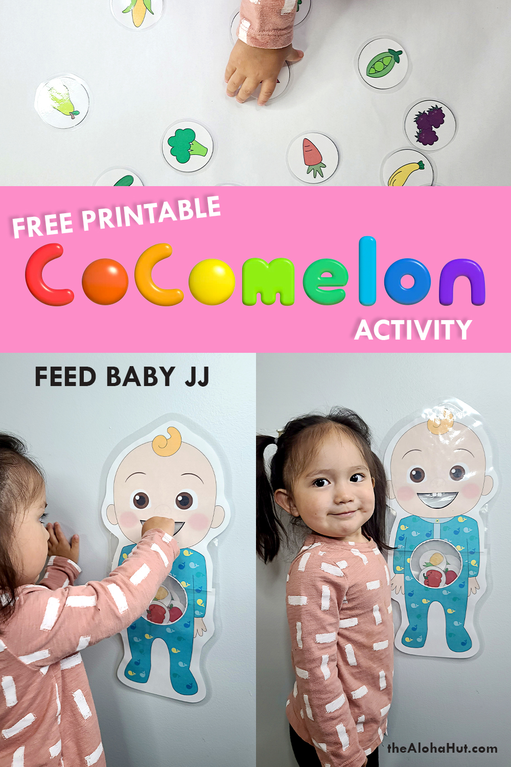 cocomelon feed baby JJ activity free printable 3 by the Aloha Hut
