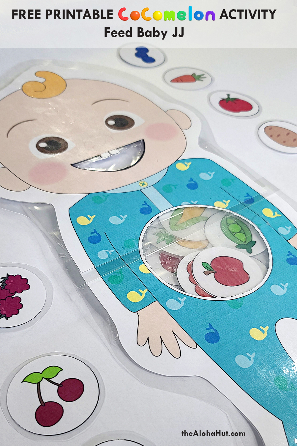 cocomelon feed baby JJ activity free printable 4 by the Aloha Hut