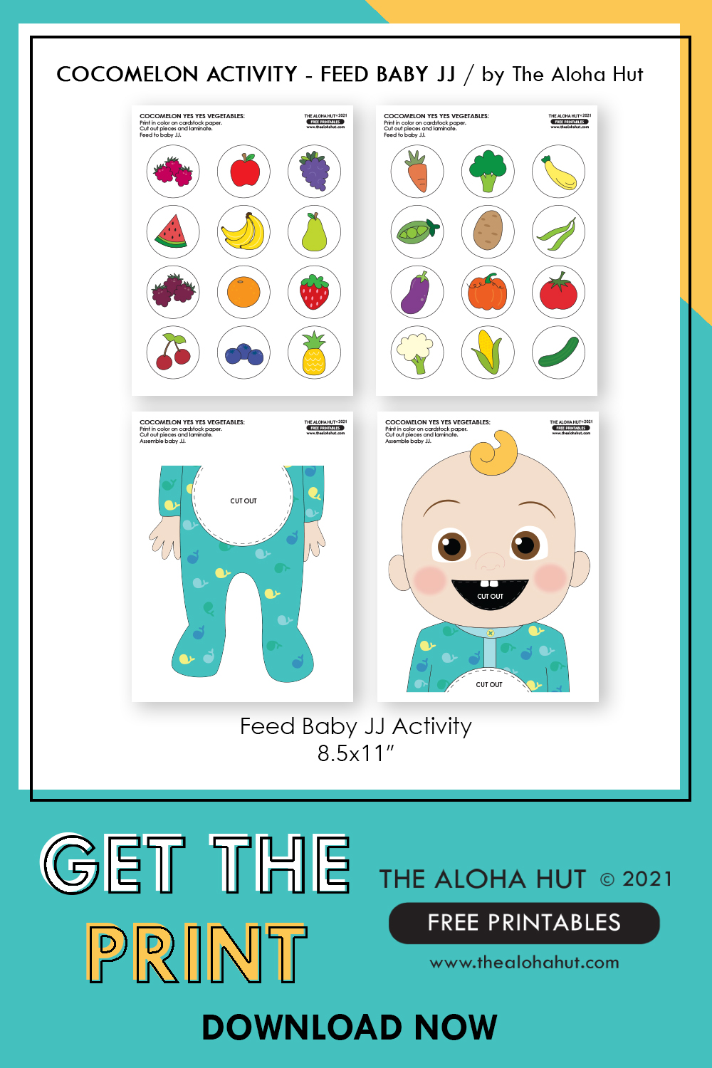cocomelon feed baby JJ activity free printable 8 by the Aloha Hut