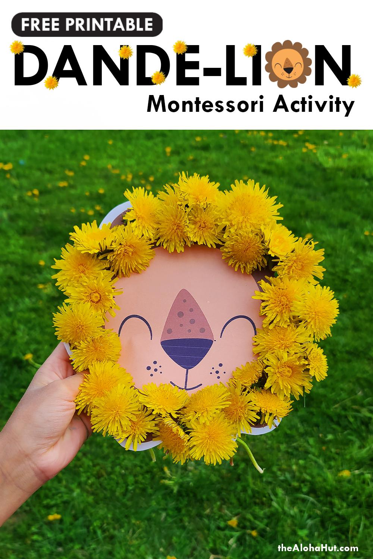 free printable dande-lion montessori activity by the Aloha Hut