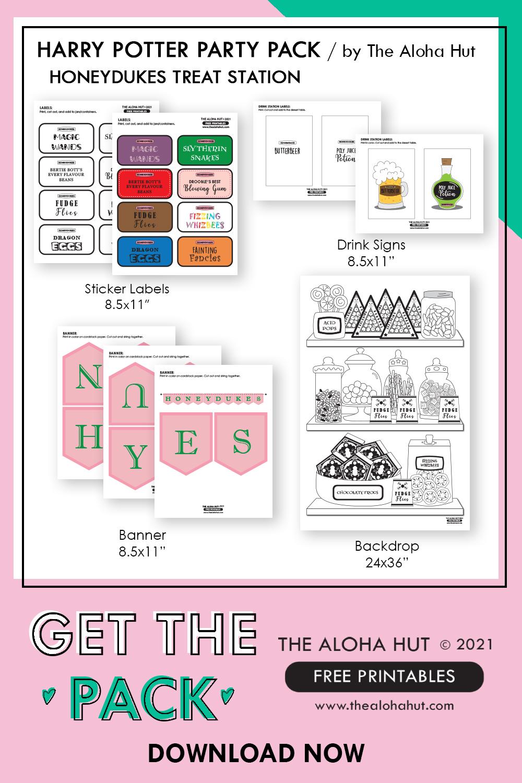 harry potter party honeydukes free printables 13 by the Aloha Hut