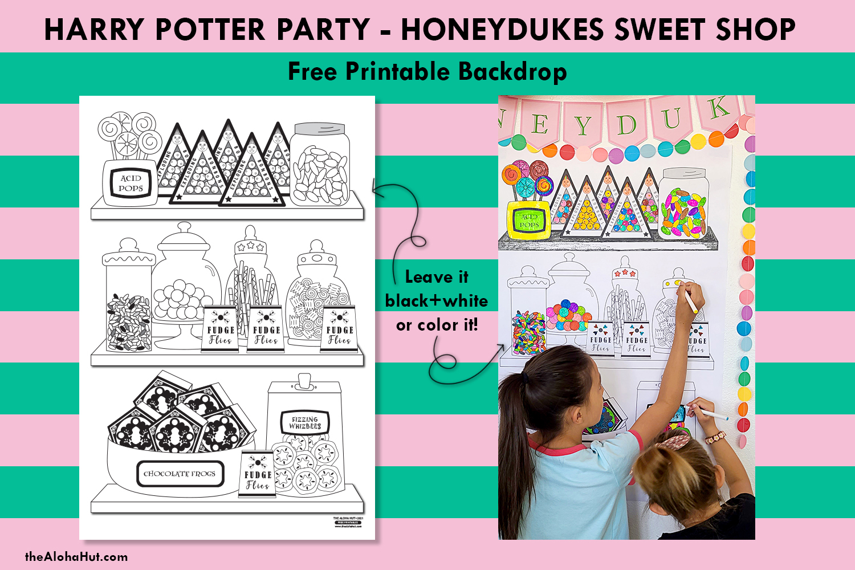harry potter party honeydukes free printables 3 by the Aloha Hut