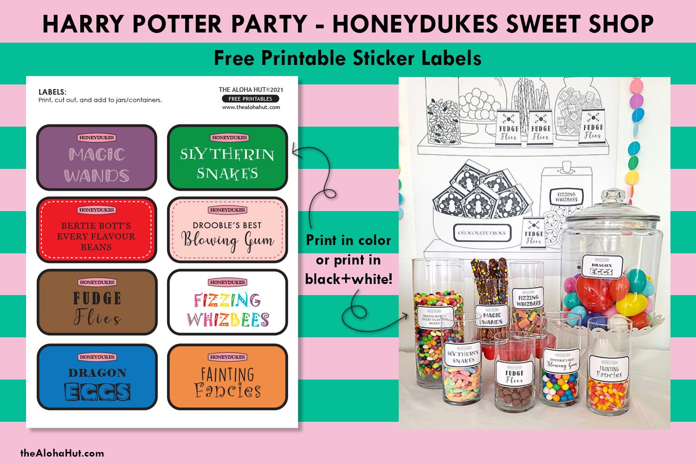 harry potter party honeydukes free printables 6 by the Aloha Hut