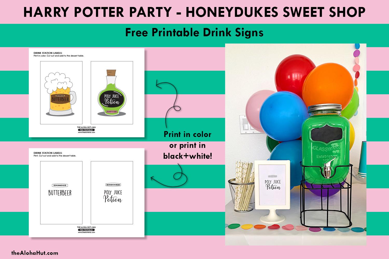 harry potter party honeydukes free printables 9 by the Aloha Hut