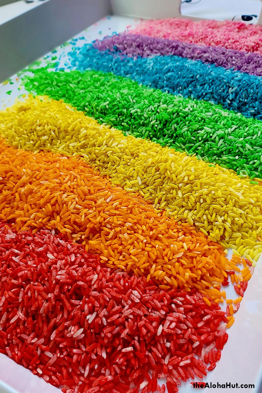 how to make rainbow rice 3 by the Aloha Hut