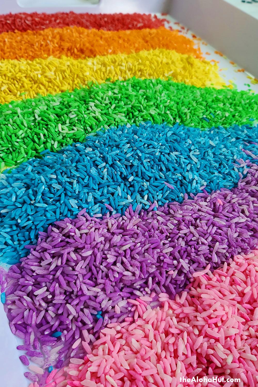 how to make rainbow rice 4 by the Aloha Hut