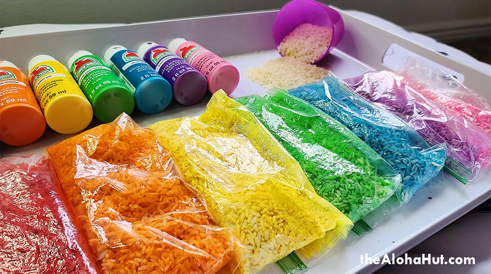 how to make rainbow rice 6 by the Aloha Hut