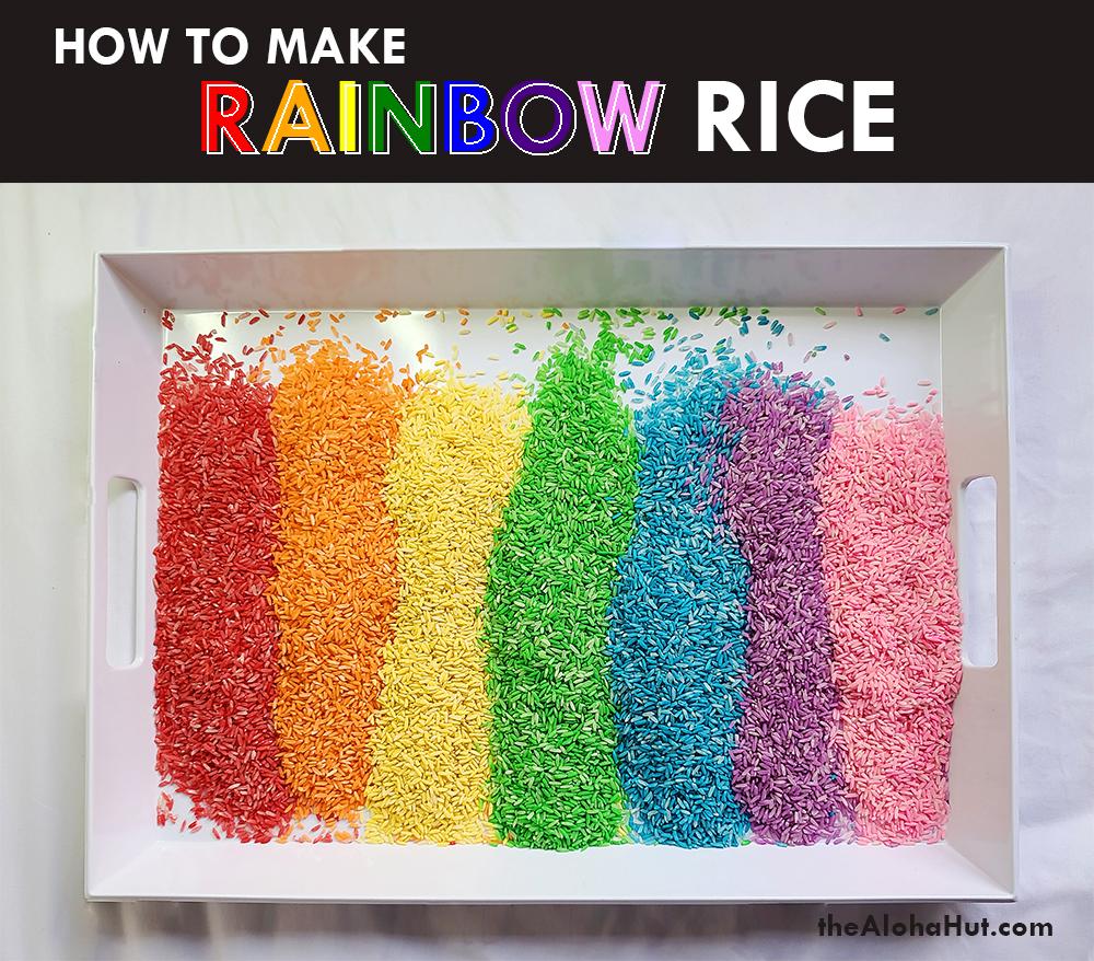 how to make rainbow rice 7 by the Aloha Hut