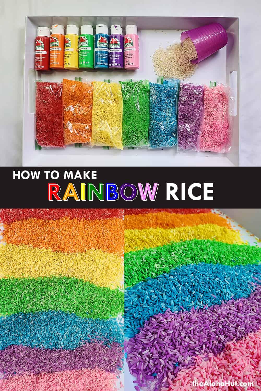 how to make rainbow rice by the Aloha Hut