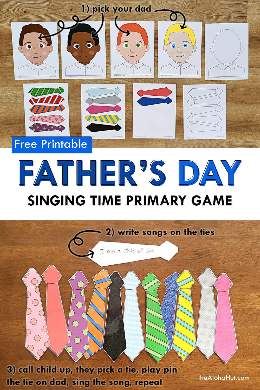 Fathers Day Singing Time Primary Game