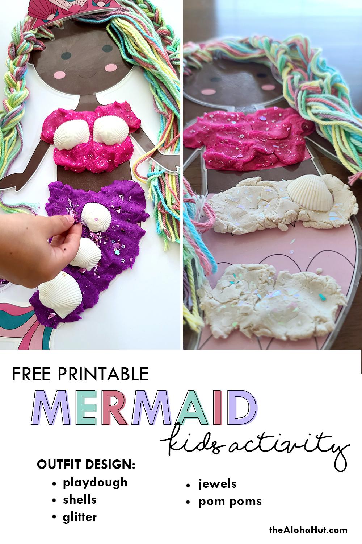 Mermaid Hair Salon Outfit Design activity by the Aloha Hut