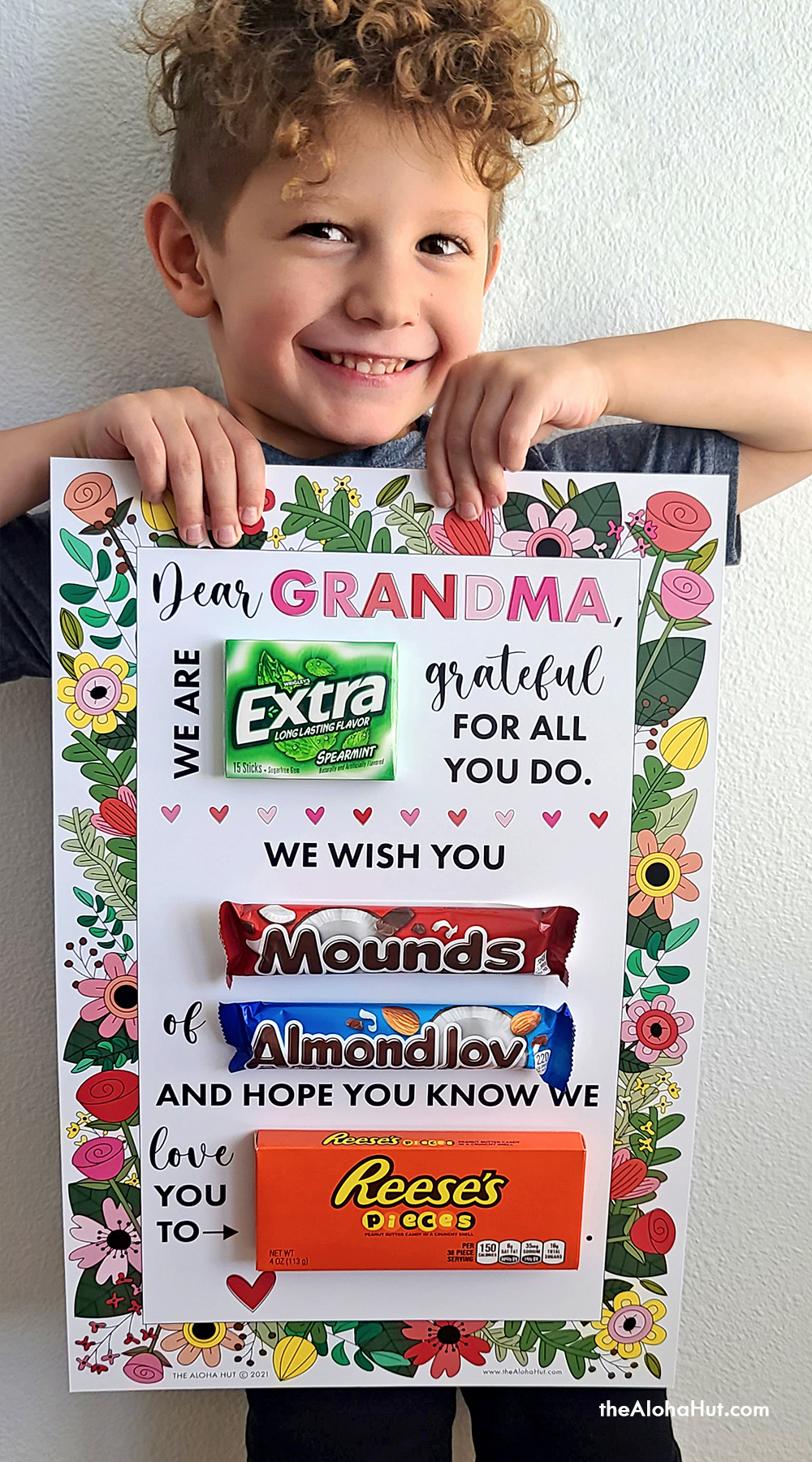 Mother's Day Card candy-gram by the Aloha Hut