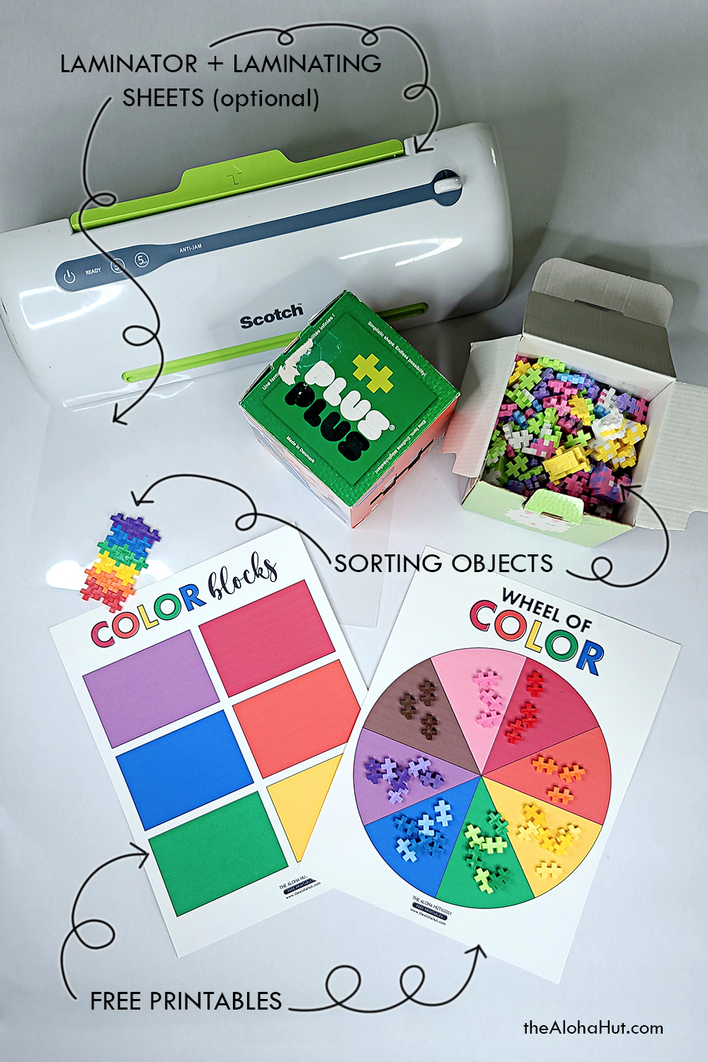 color sorting activity by the Aloha Hut