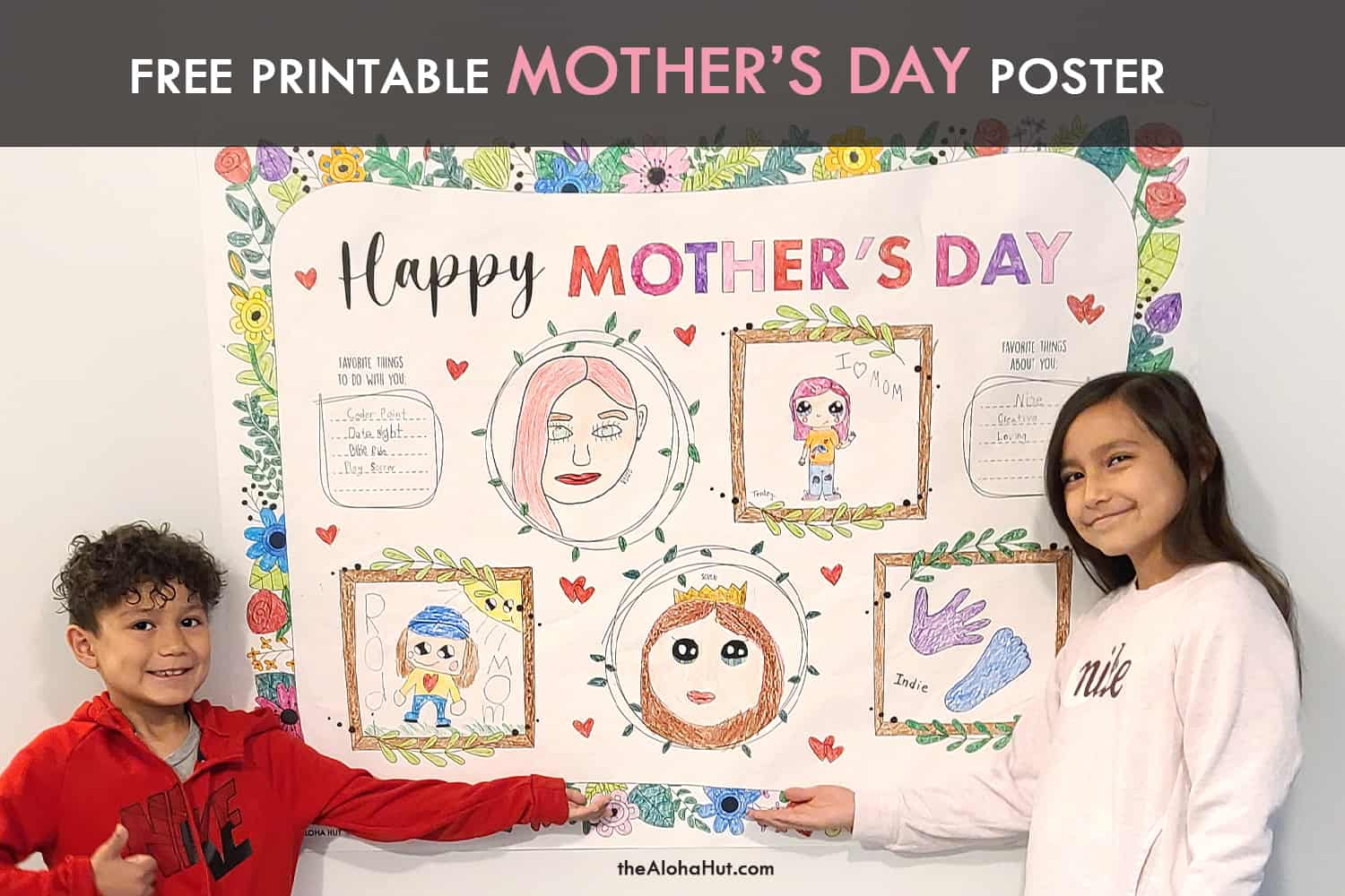 mother's day poster free printable by the Aloha Hut
