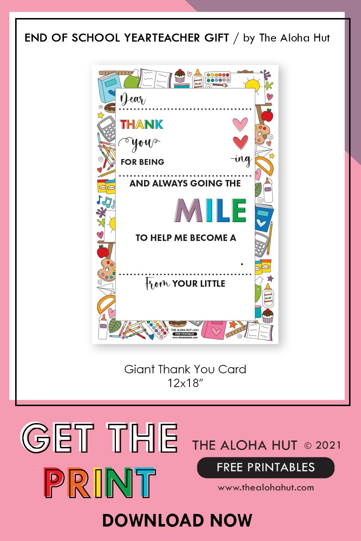 thank you card teacher gift 5