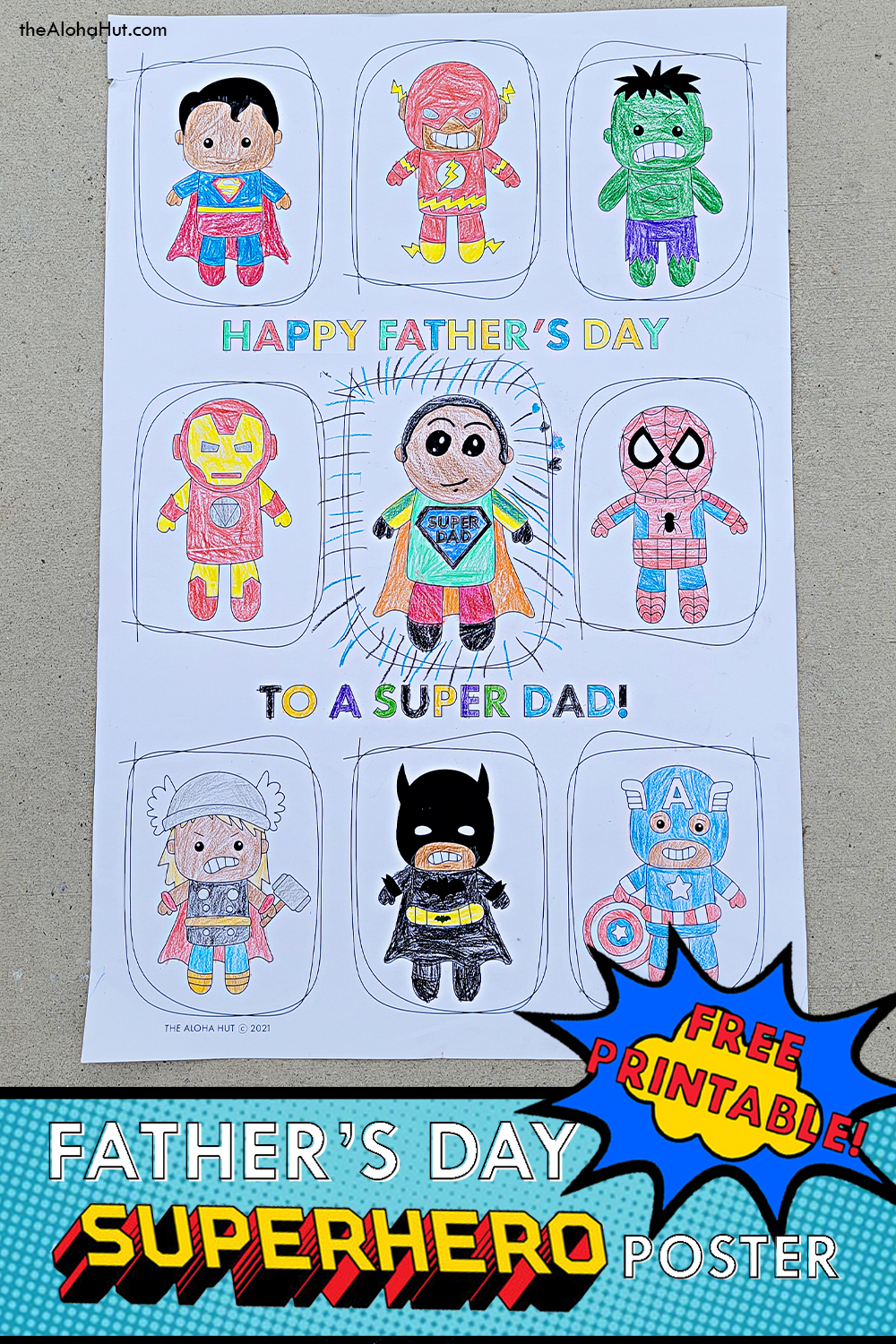 Best Father's Day Gift - Giant Superhero Poster