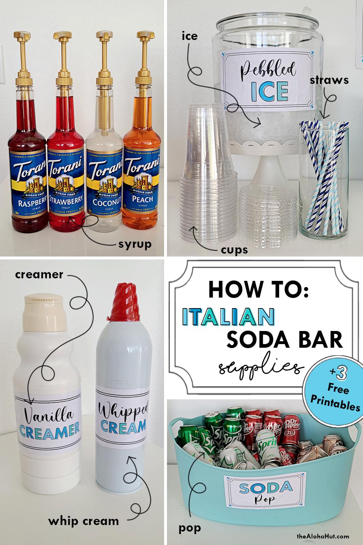how to make an italian soda bar