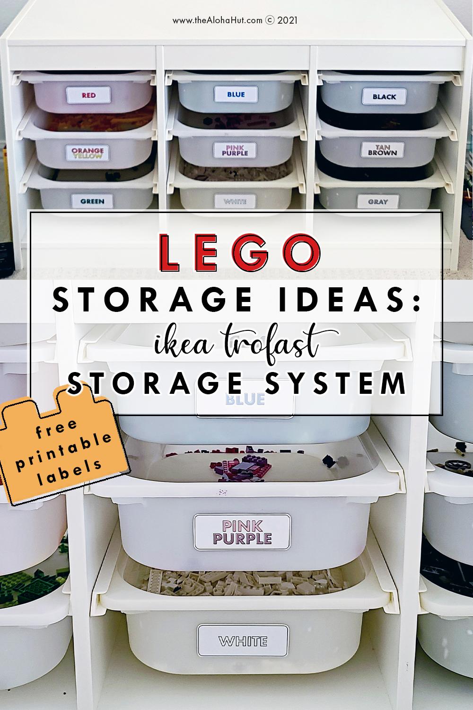 top 6 lego storage ideas +diy lego table