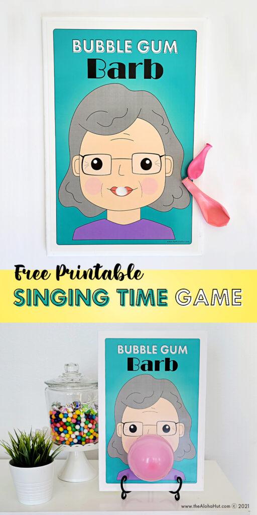 singing time game - Bubble Gum Barb Benji